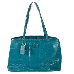 coach Madison teal purse E1276-F19215 shoulder bag
